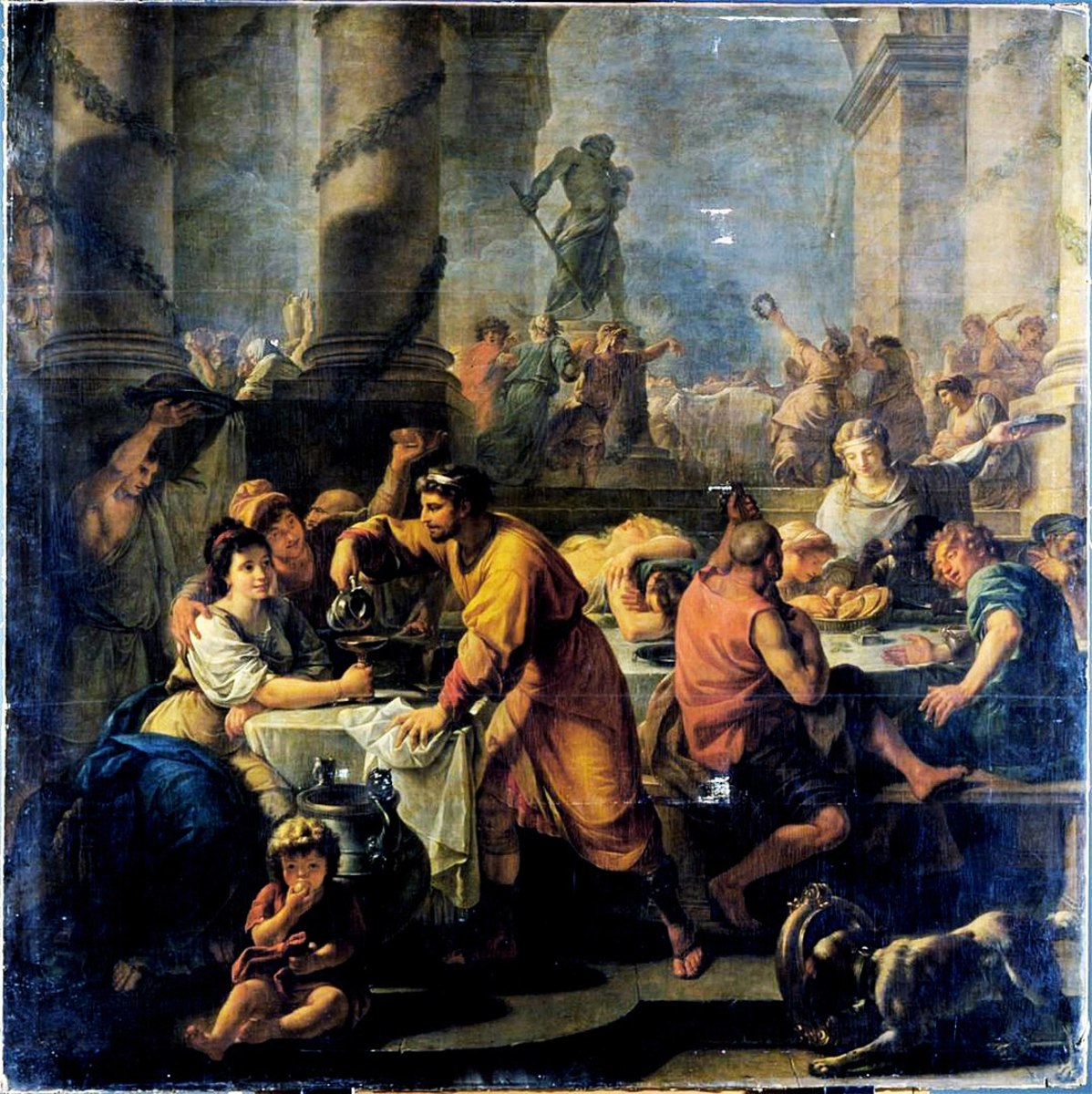 Artist Antoine Callet depicts a Saturnalia celebration.