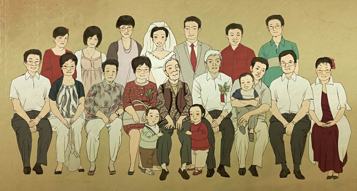 """Chinese ideal family: four generations under one roof."" Confucius Institute"
