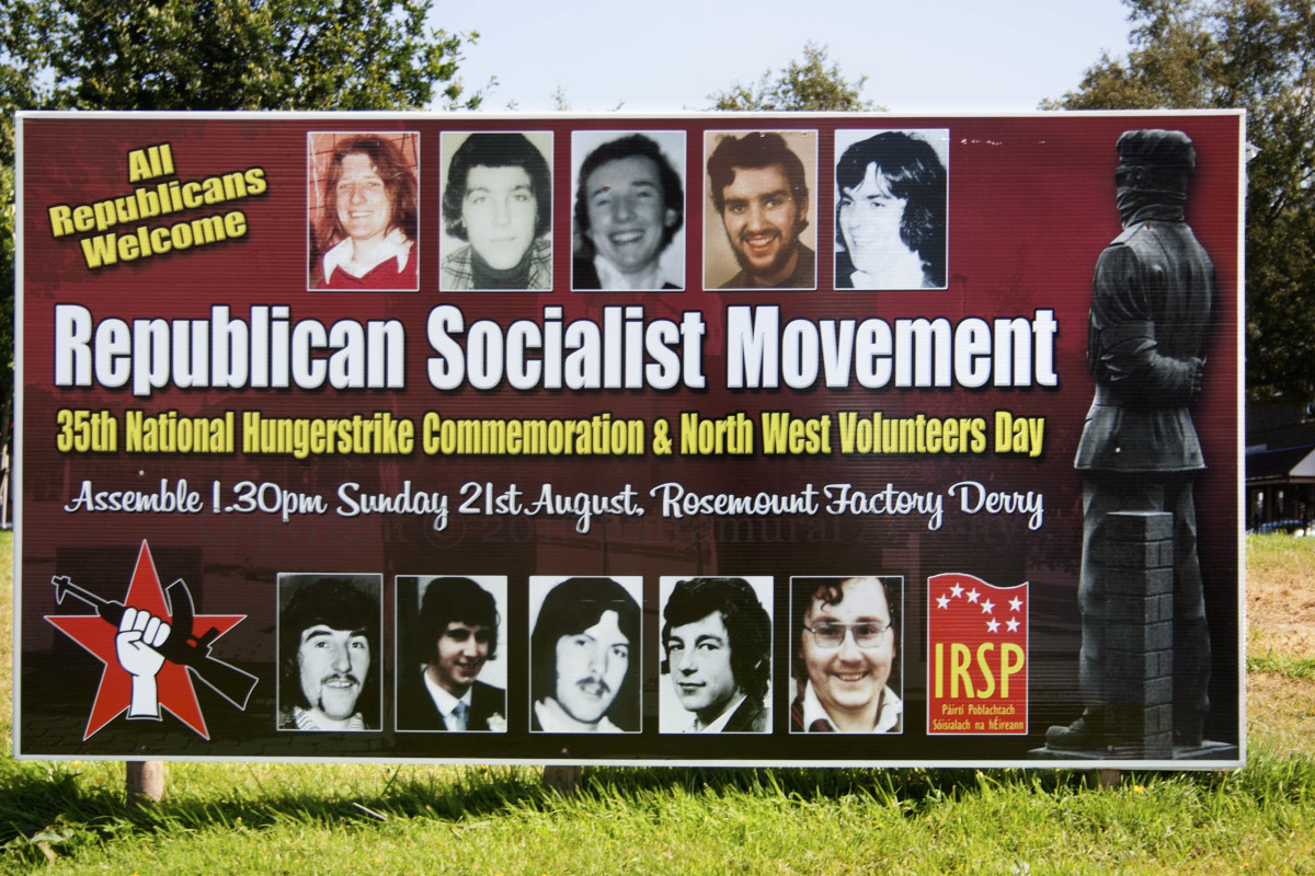 Three of the H-Block Hunger Strike martyrs: Patsy O'Hara, Kevin Lynch and Micky Devine, were Irish Republican Socialist political prisoners