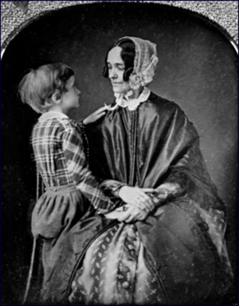 Jane Pierce with her son Benjamin circa 1850.