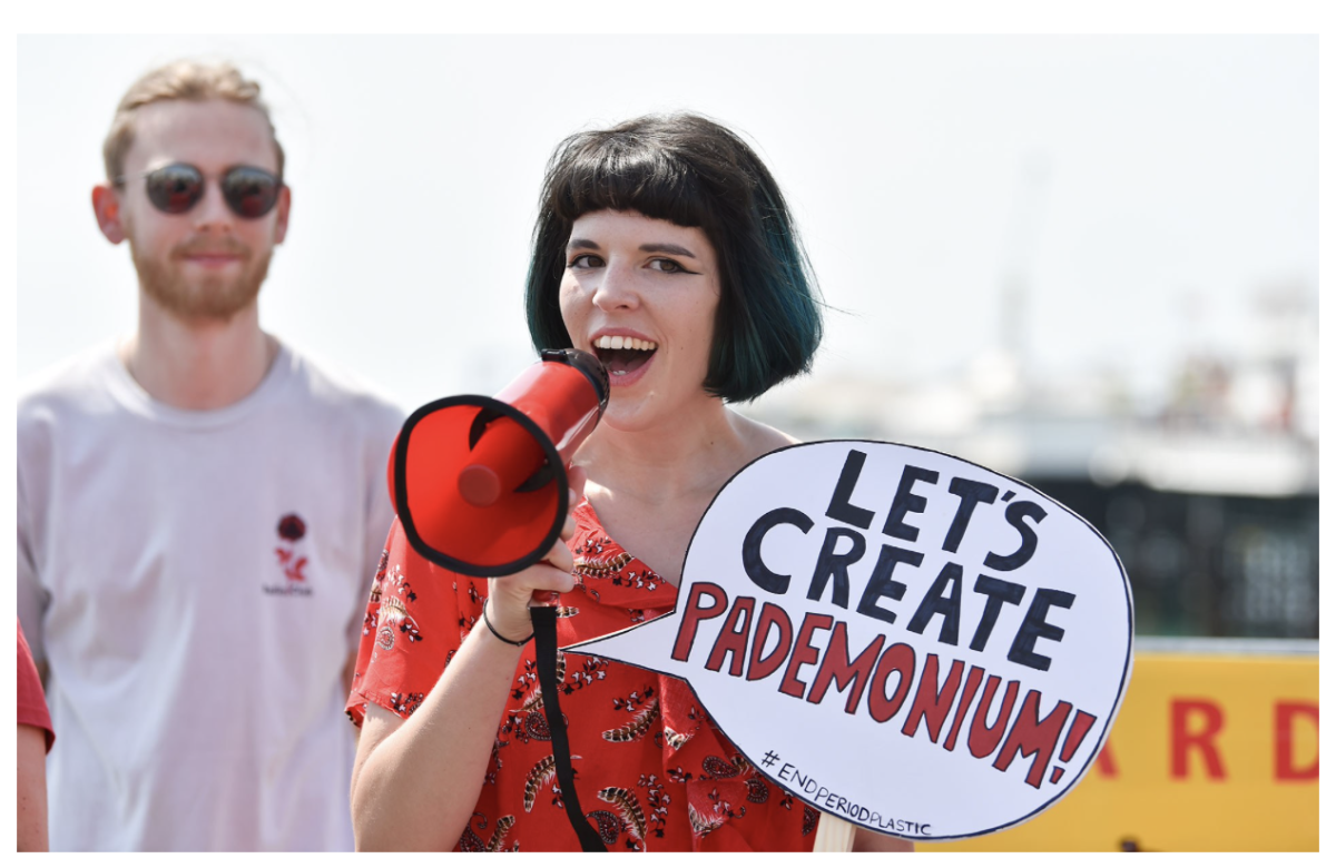 Ella Daish is a youthful campaigner, heading a campaign for plastic free periods while holding down a job