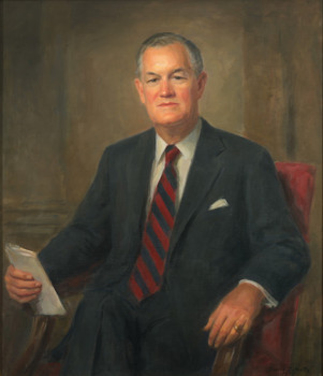 "Governor Mills E. Godwin, Jr, one of only two ""Dixiecrats"" to become a Republican"