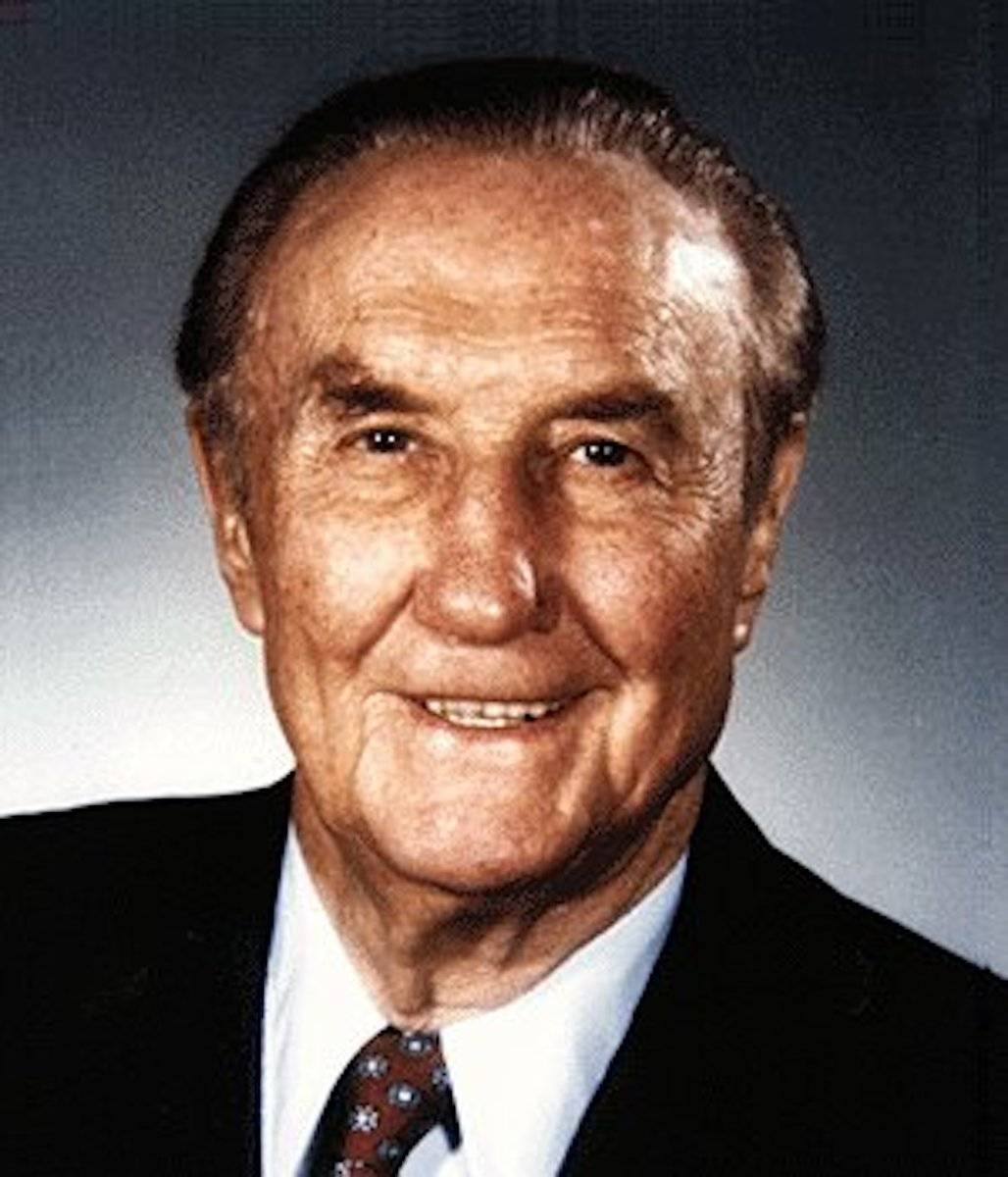 "Senator Strom Thurmond, one of only two ""Dixiecrats"" who became Republicans."
