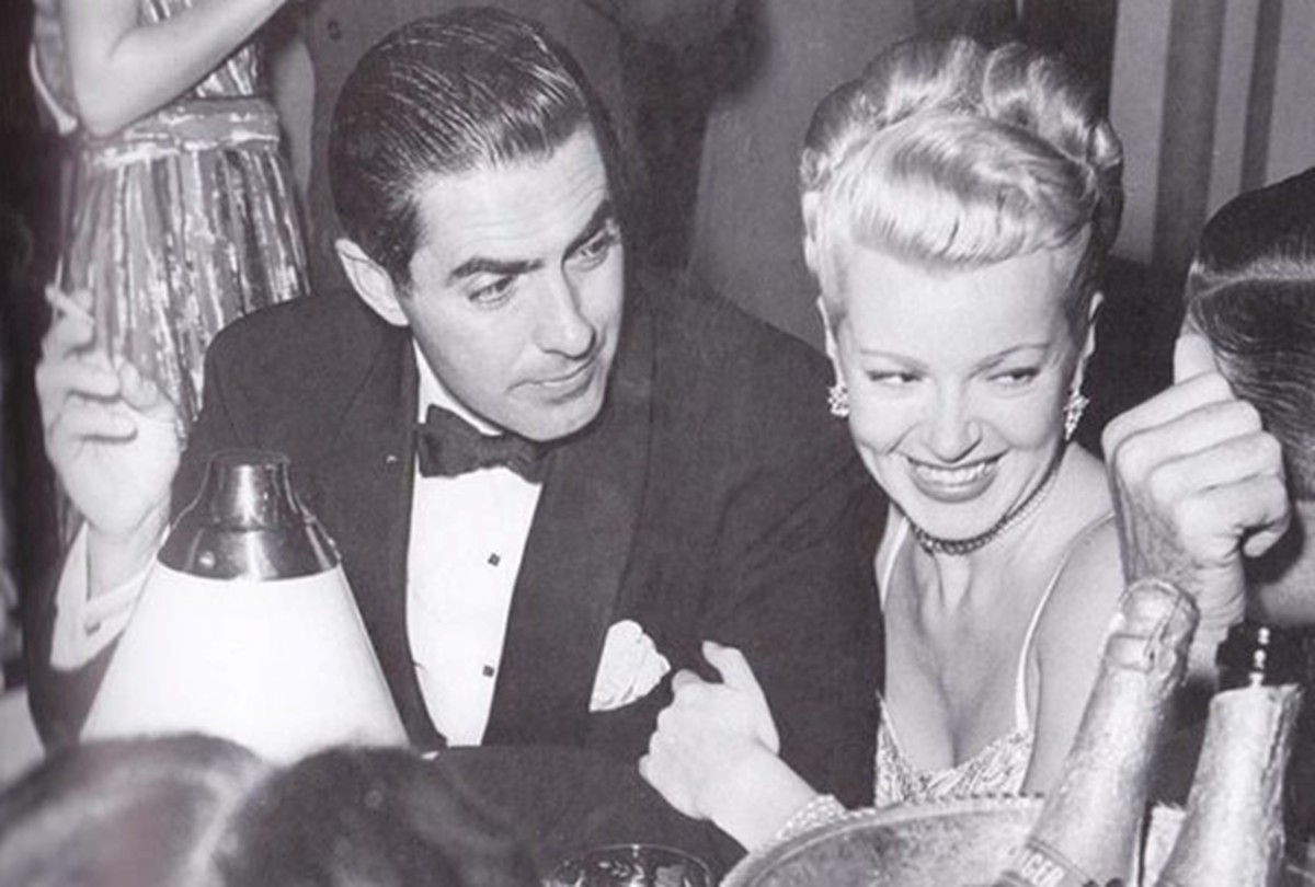 American actor Tyrone Power and actress Lana Turner in 1947.