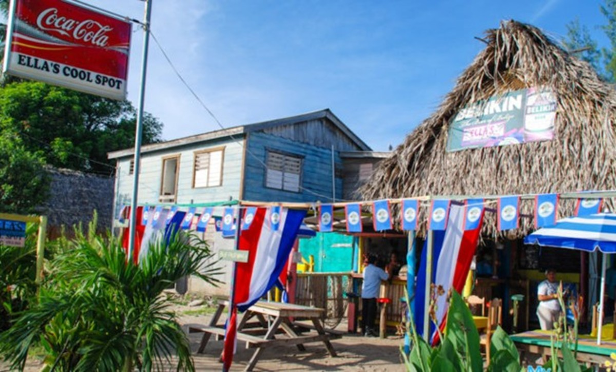 The small village of Hopkins in Belize.