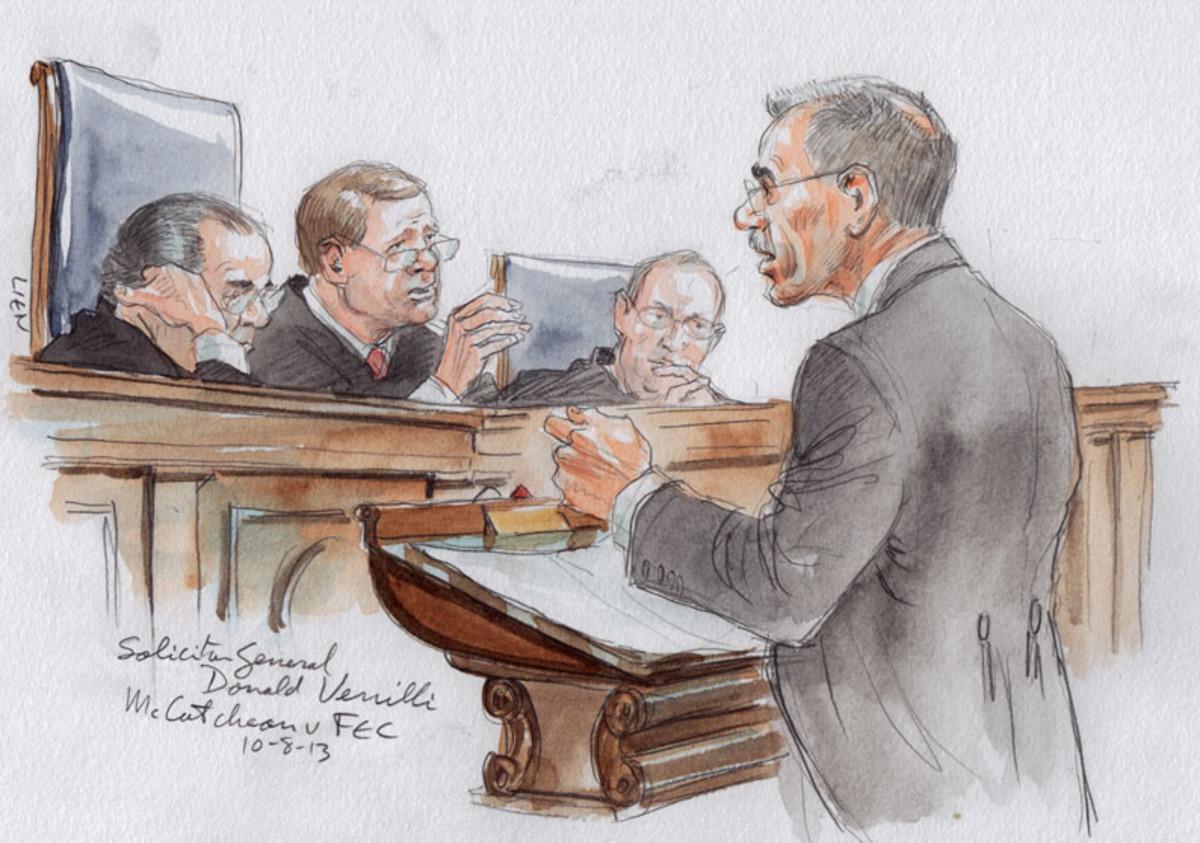 Verrilli arguing before the Court.