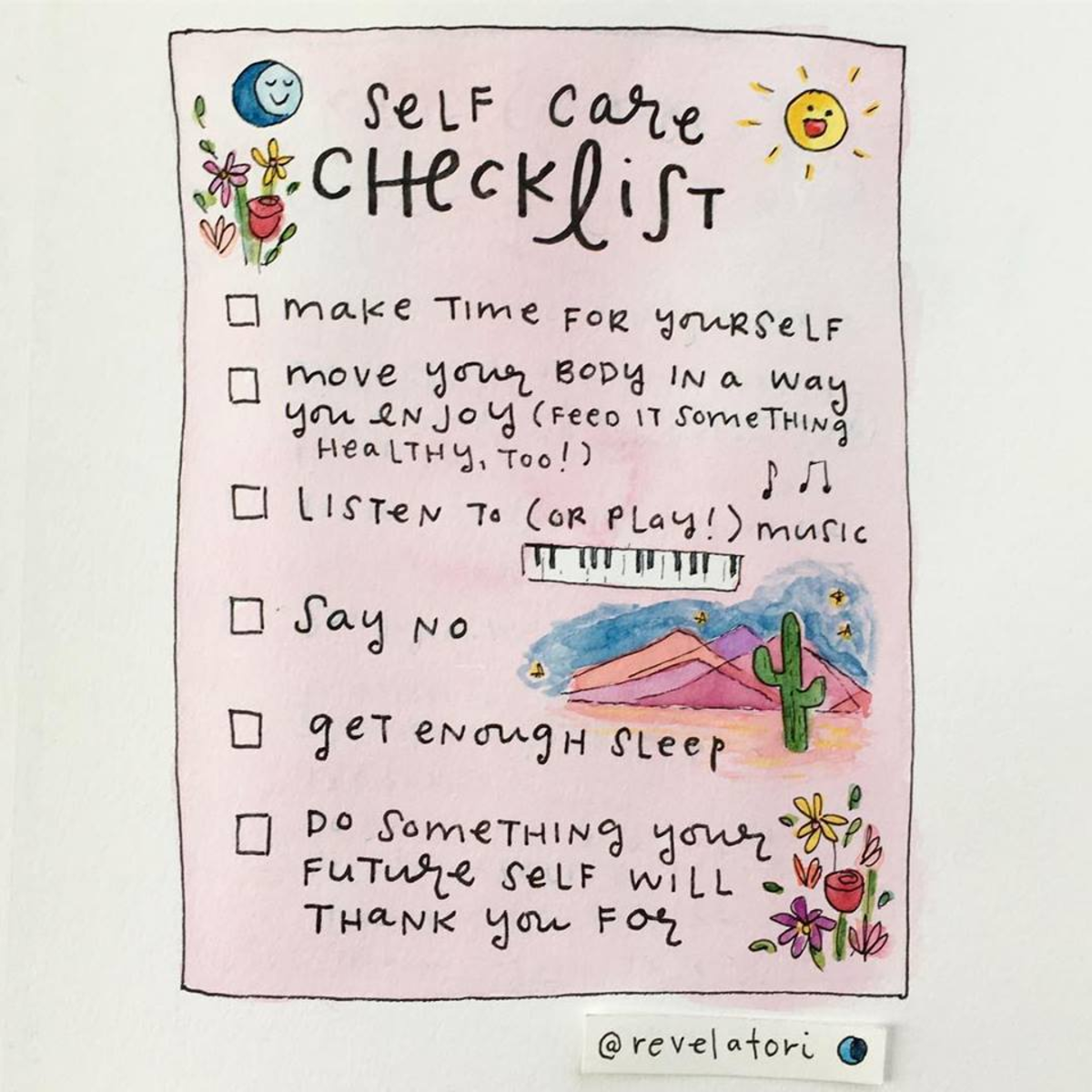 Some great self care tips ❤️