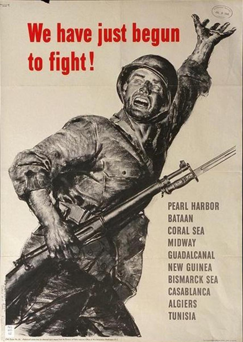 """""""We Have Just Begun to Fight,"""" poster art by Norman Rockwell (1943)"""