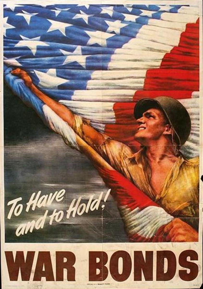 """""""To Have and to Hold,"""" poster art by Vic Guinnell (1944)"""
