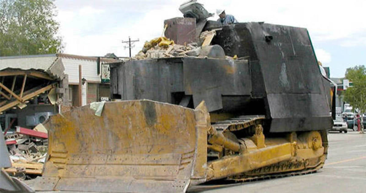 Heemeyer's armored bulldozer.
