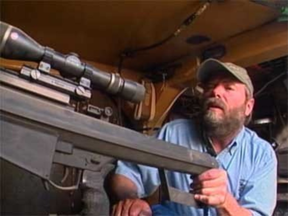 Marvin Heemeyer inside his modified bulldozer.