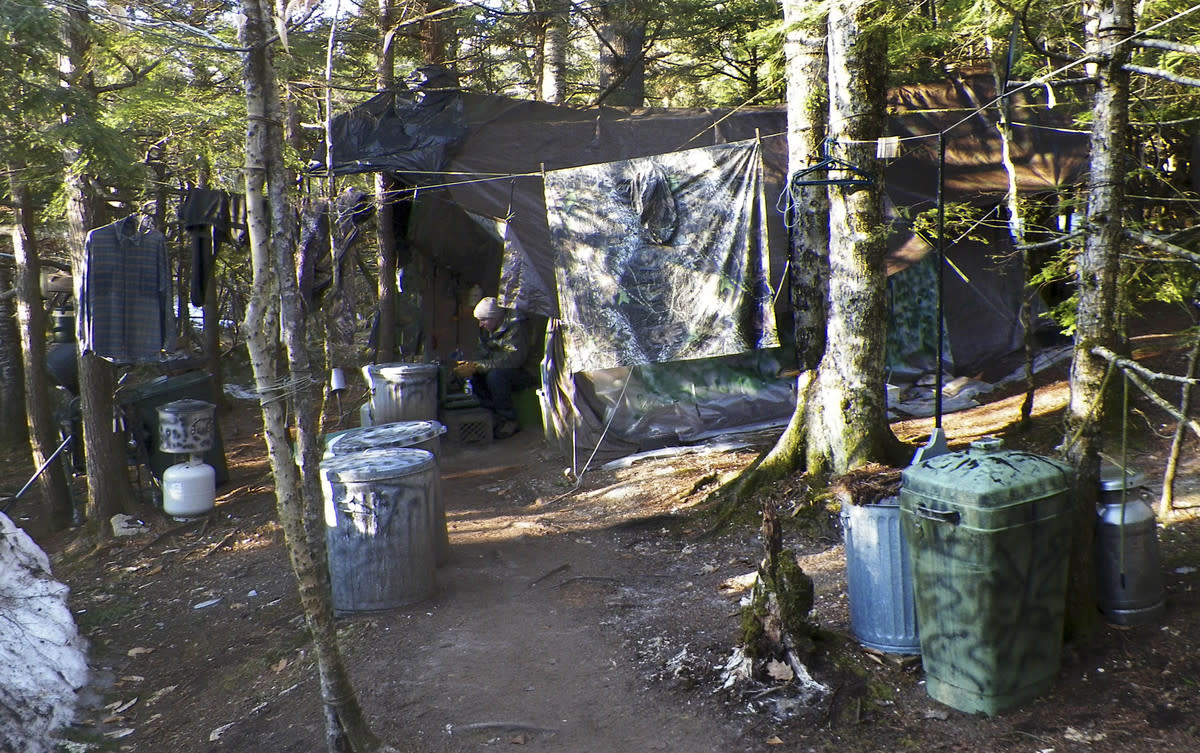 Christopher Knight's camp