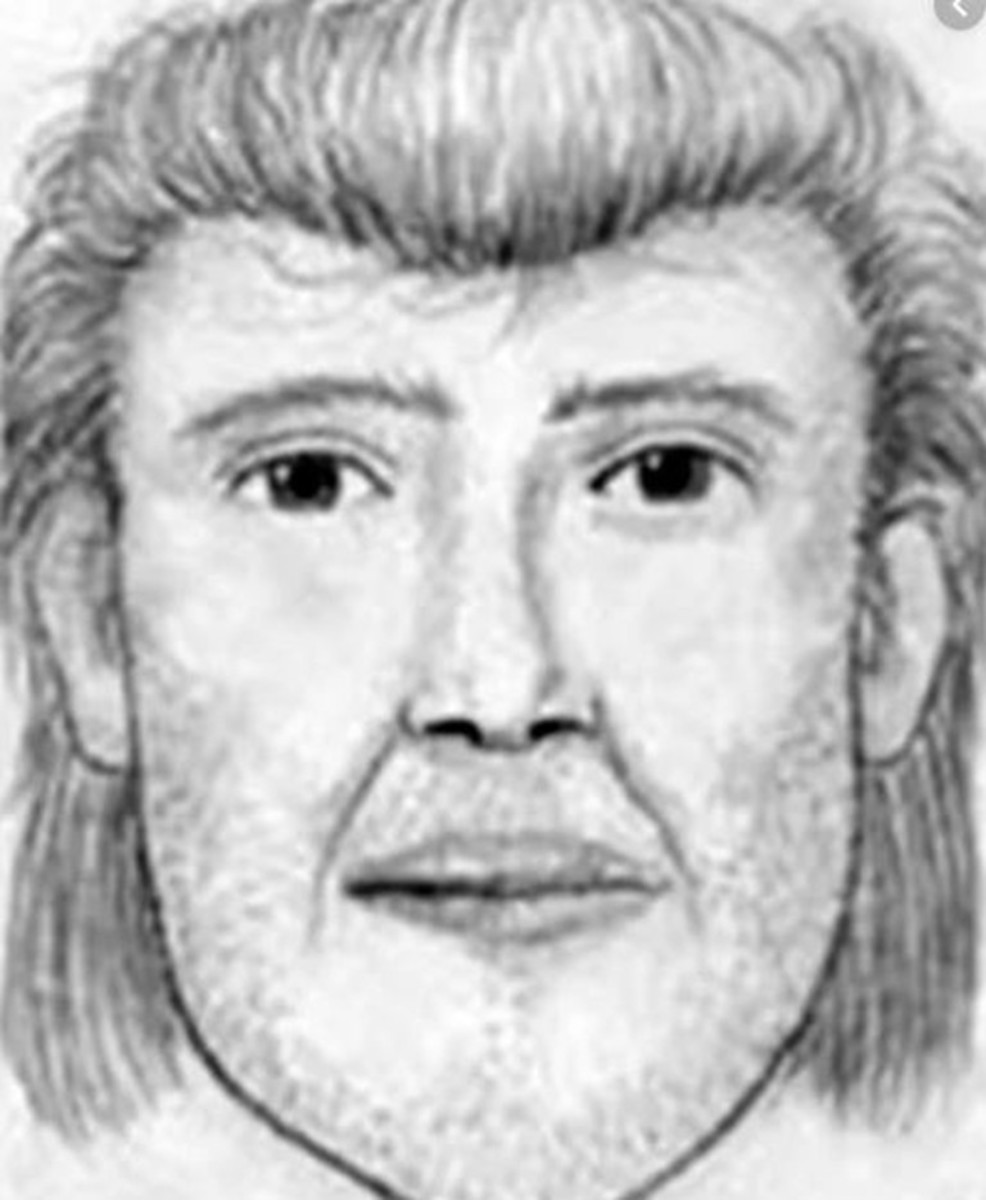 Composite sketch of the man Diana Shawcroft and Jennifer Lueth were last seen talking to on 55th Avenue and Camelback Road in Glendale, Arizona.