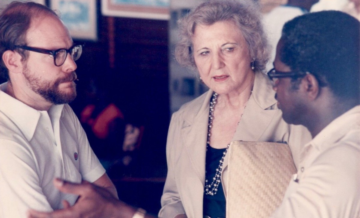 In 1985 the Pan American Development Foundation held their annual meeting in Grenada. Grenada was the hotspot of the Caribbean at the time. All three of its islands needed attention and tourist dollars.