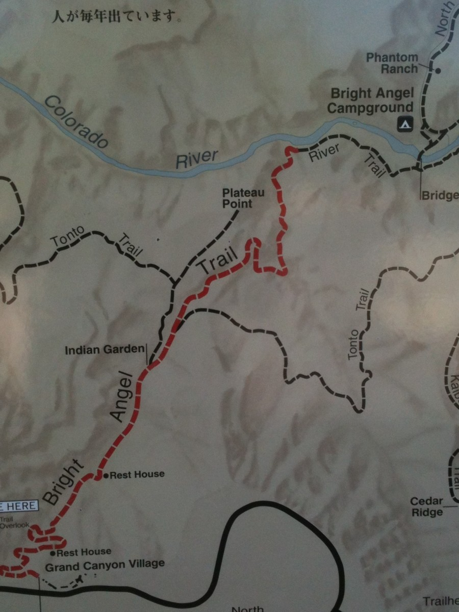 Bright Angel Trail Map