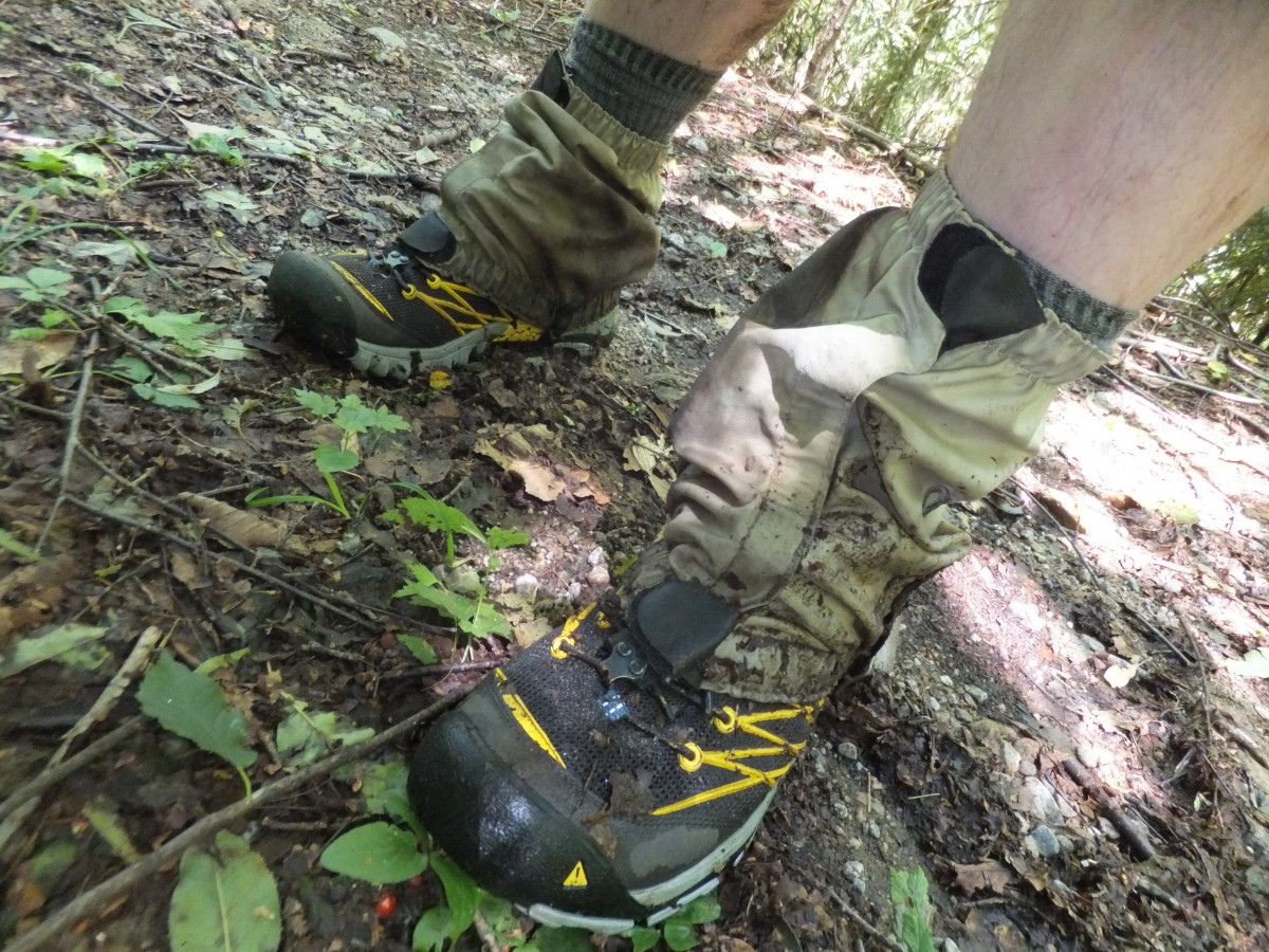 The Marshall pairs up nicely with OR low gaiters for keeping the mud at bay.