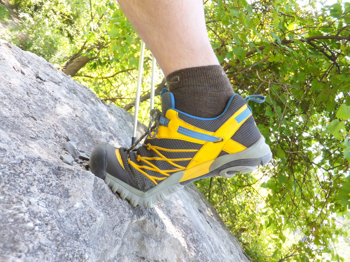 The Marshall has excellent rock-gripping tread and flexibility for scrambling.