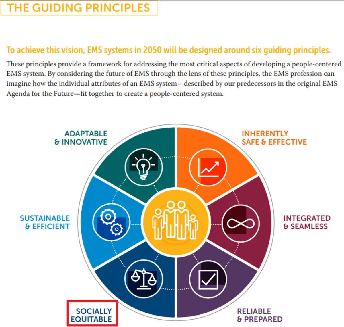 The six guiding principles of EMS Agenda 2050.