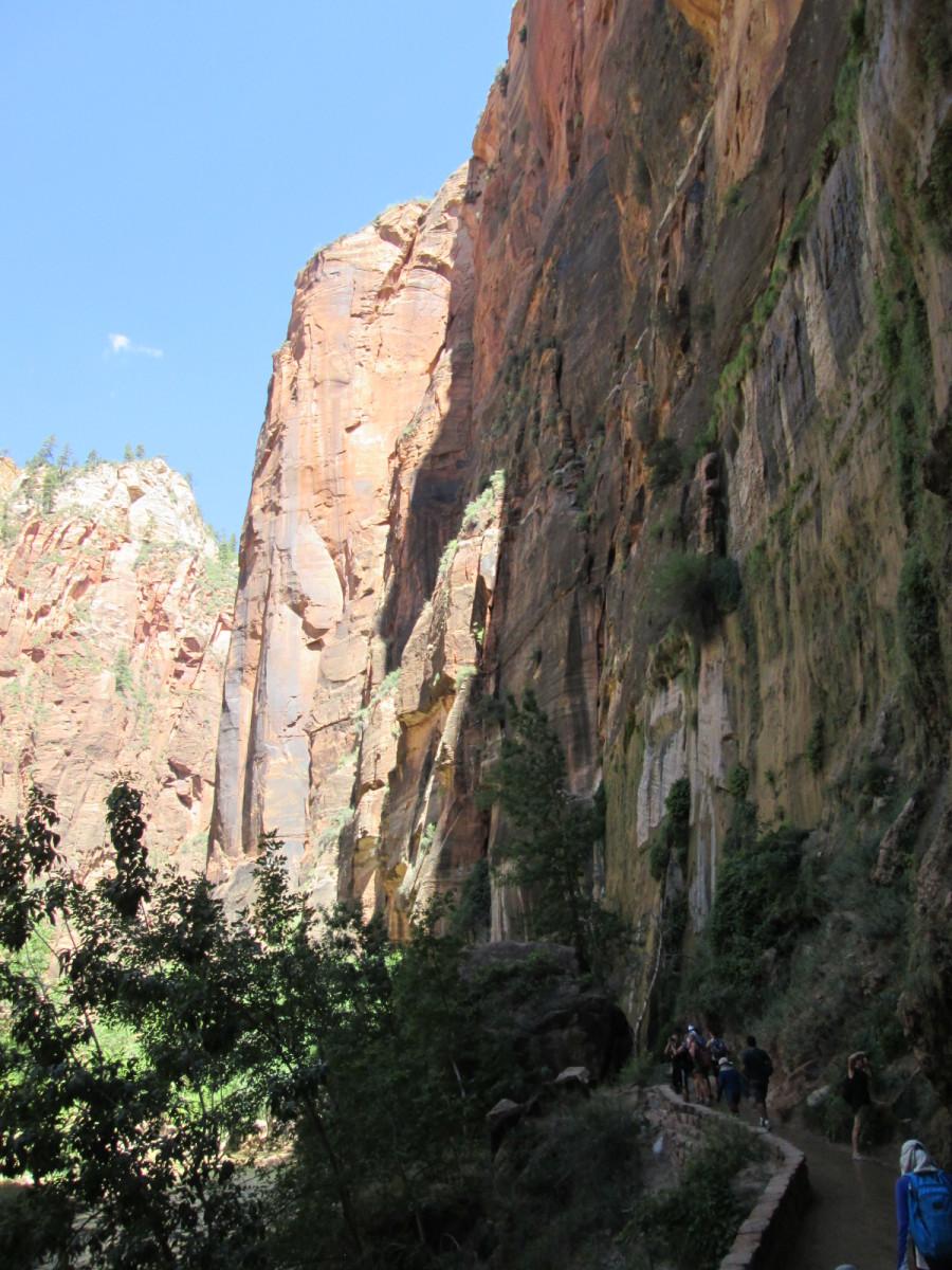 The sheer walls of the Narrows