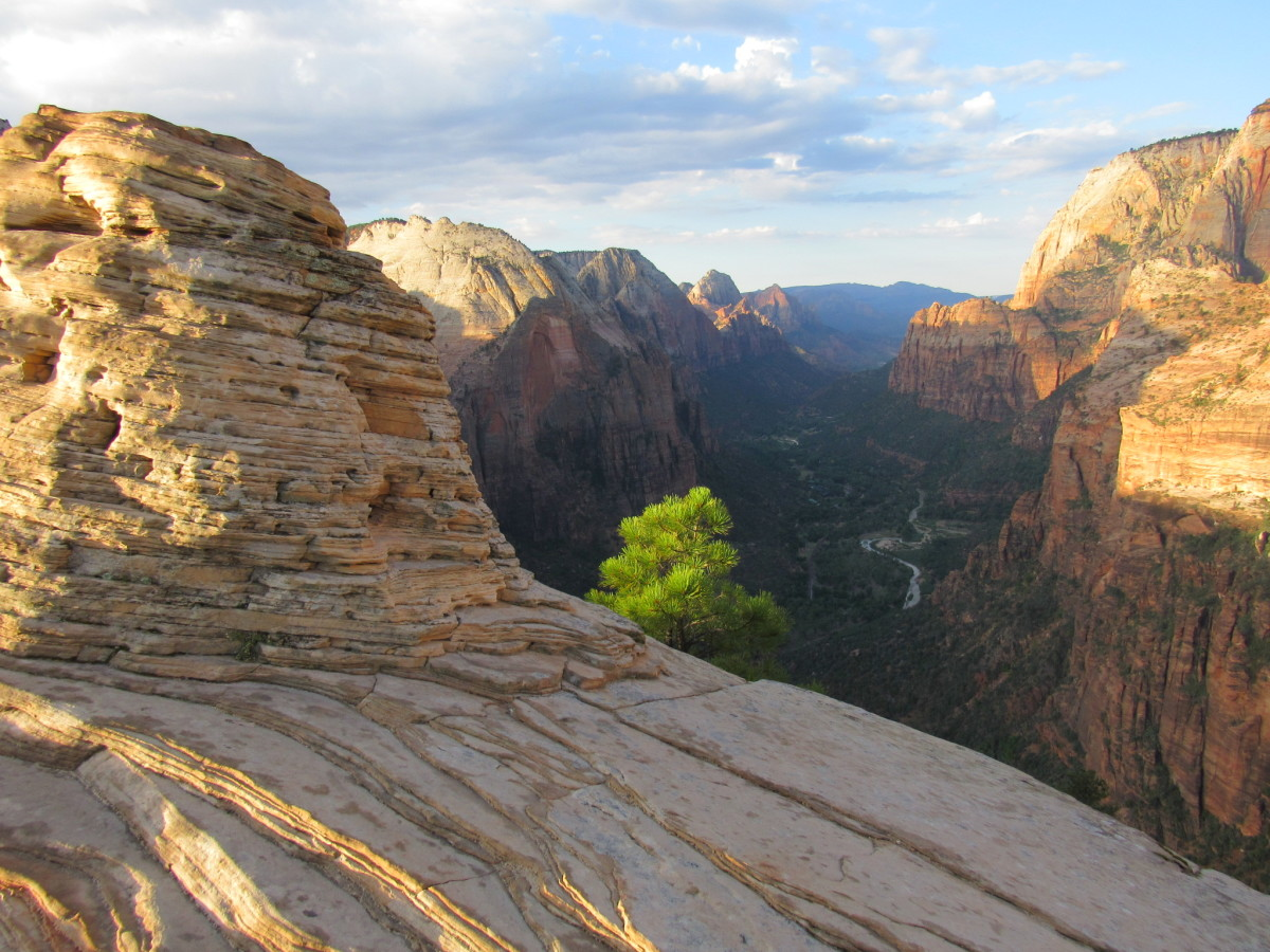 View from the summit of Angels Landing