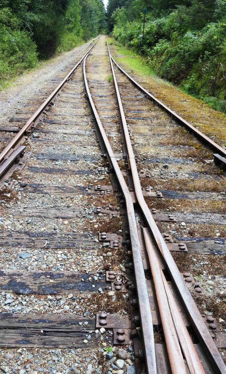 where the tracks were switched