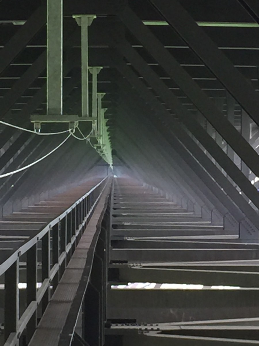 The view on the New River Gorge Bridge catwalk