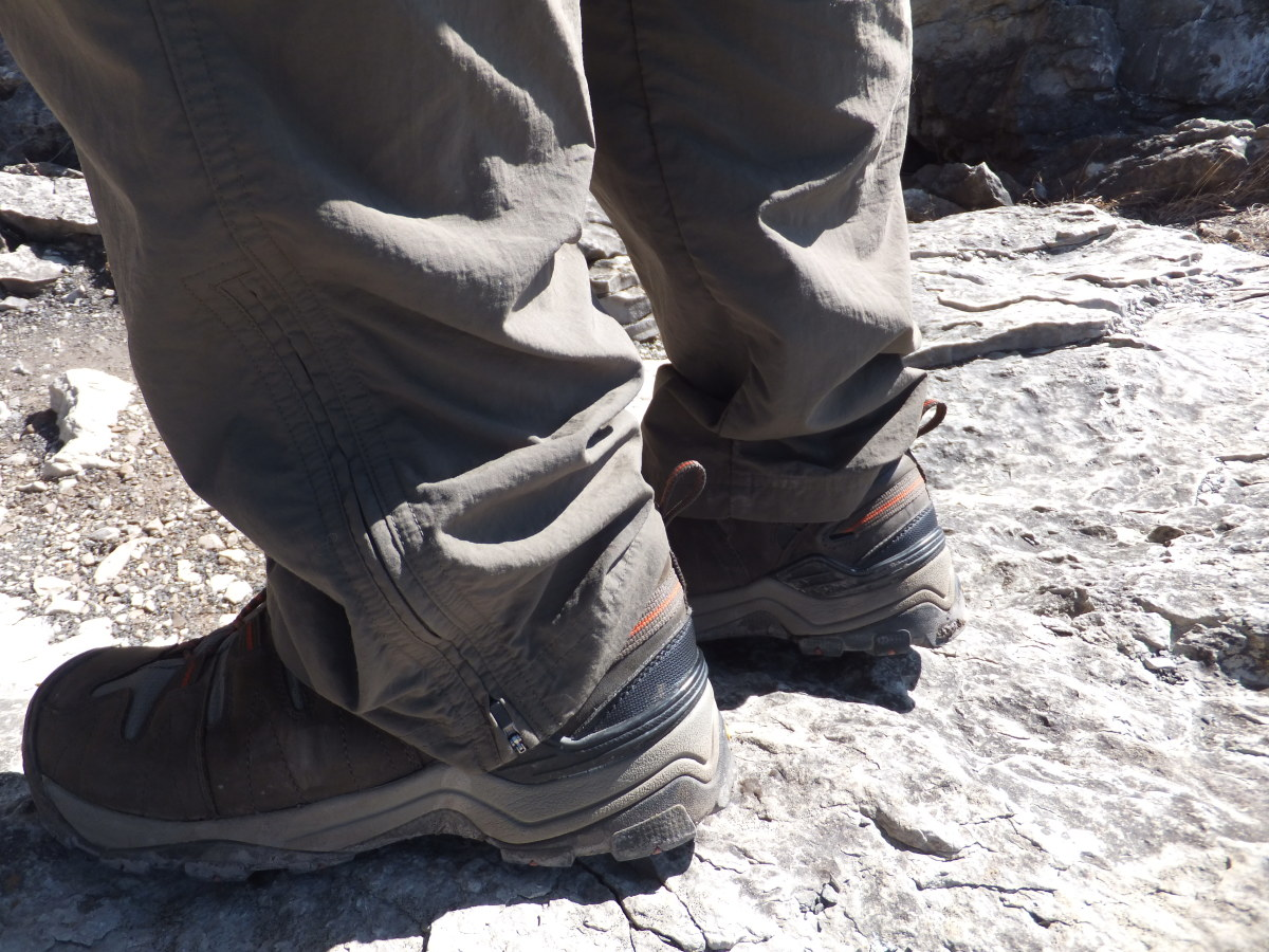 Detail of the Gypsum's rigid heel support.