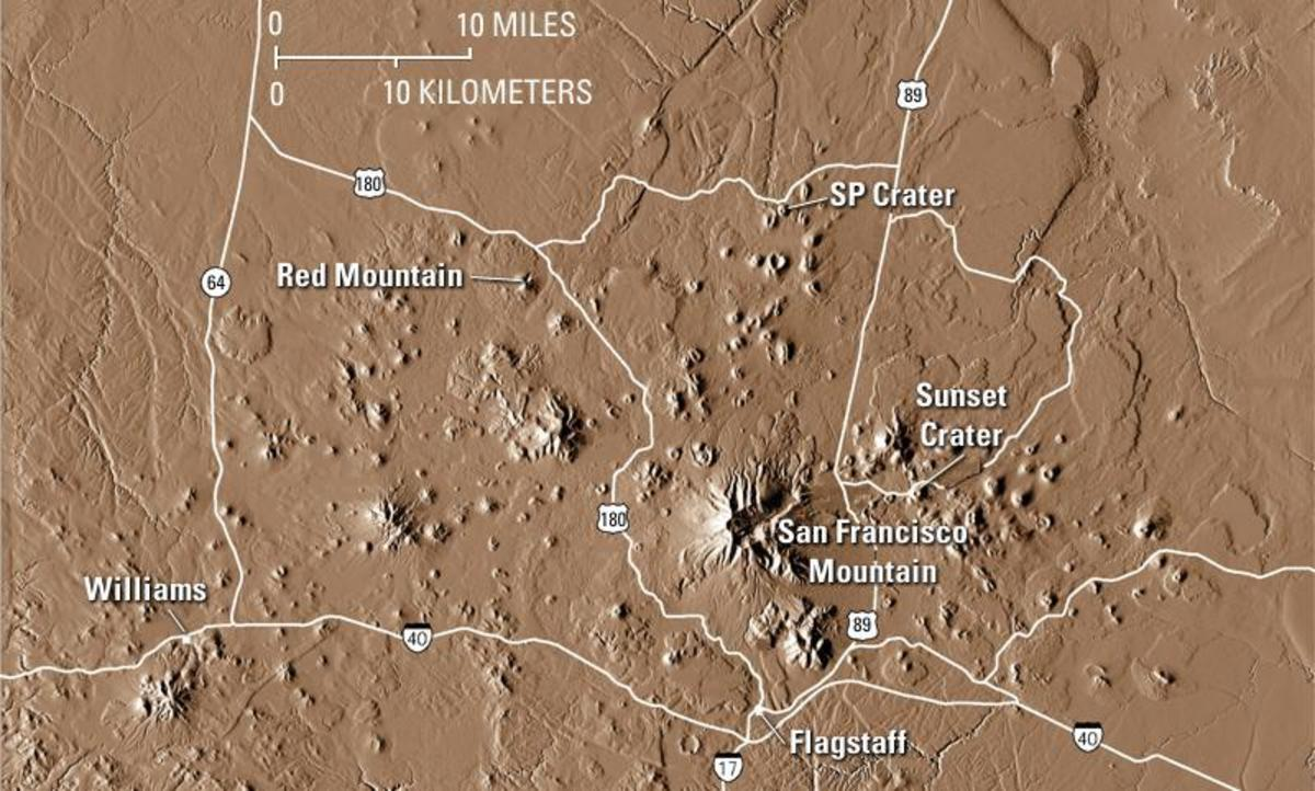 Digital Elevation Model (DEM) of the San Francisco Volcanic Field