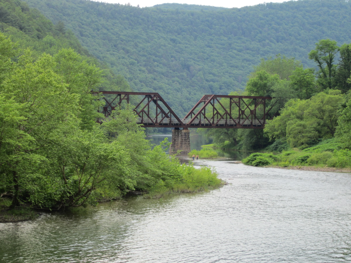 Old railroad trestle over Pine Creek south of Waterville, PA