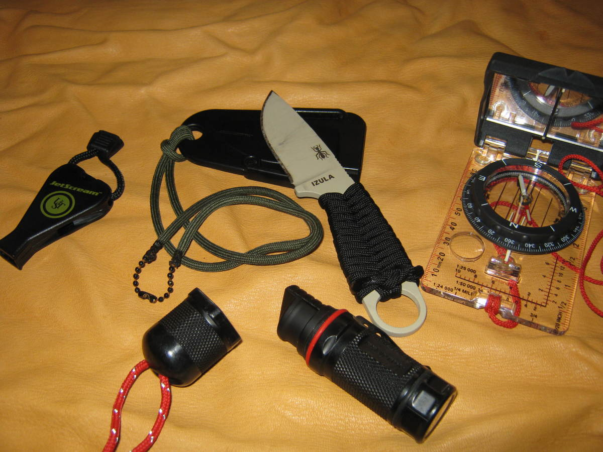 A knife is an integral part of Outbound Dan's Critical Four, along with whistle, fire starter, and compass.
