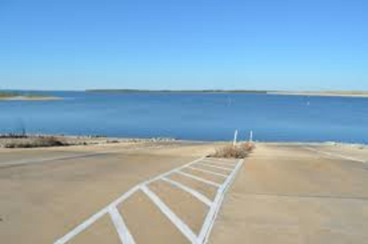 View from Spillway Ramp