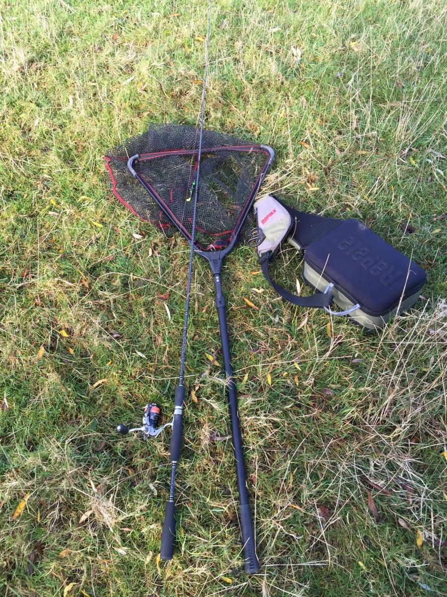 Rapala sling bag & Landing net