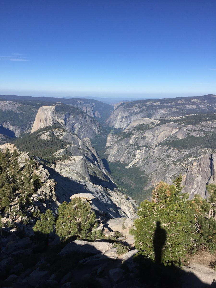 The iconic, Half Dome, seen from a different perspective: above.