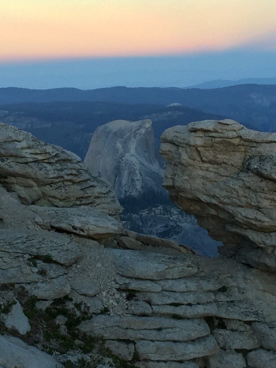 Night Hike for a Cloud's Rest Sunrise Above Half Dome