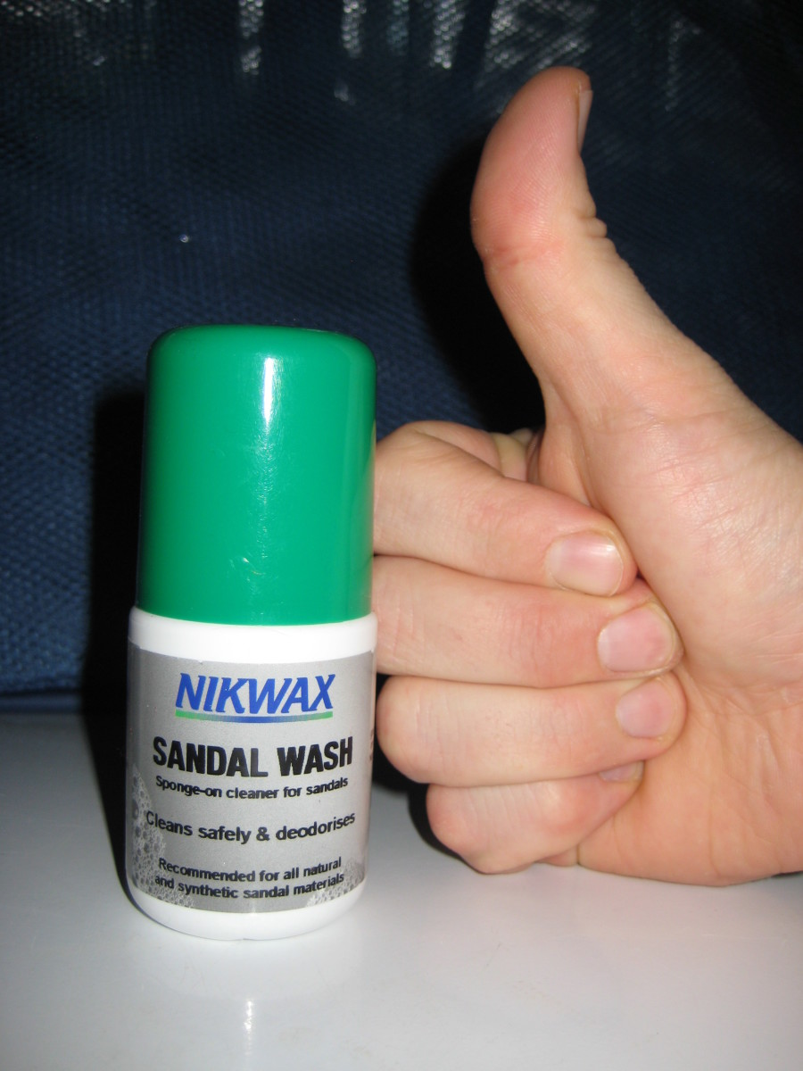 Thumbs up for Nikwax Sandal Wash.