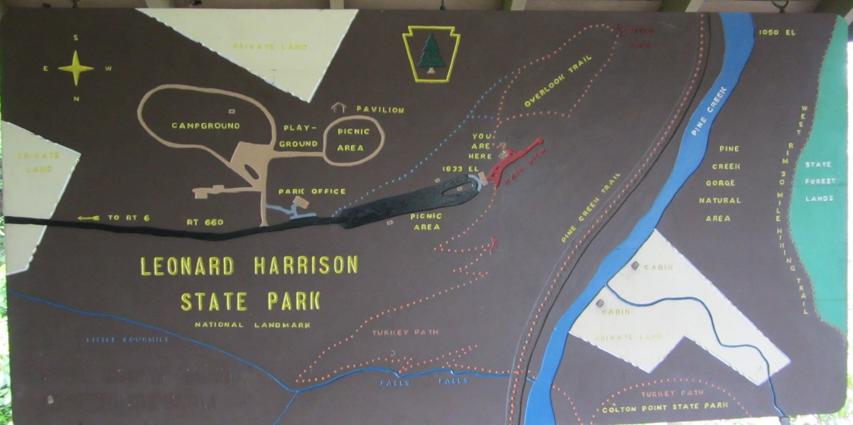 Leonard Harrison State Park Map Sign