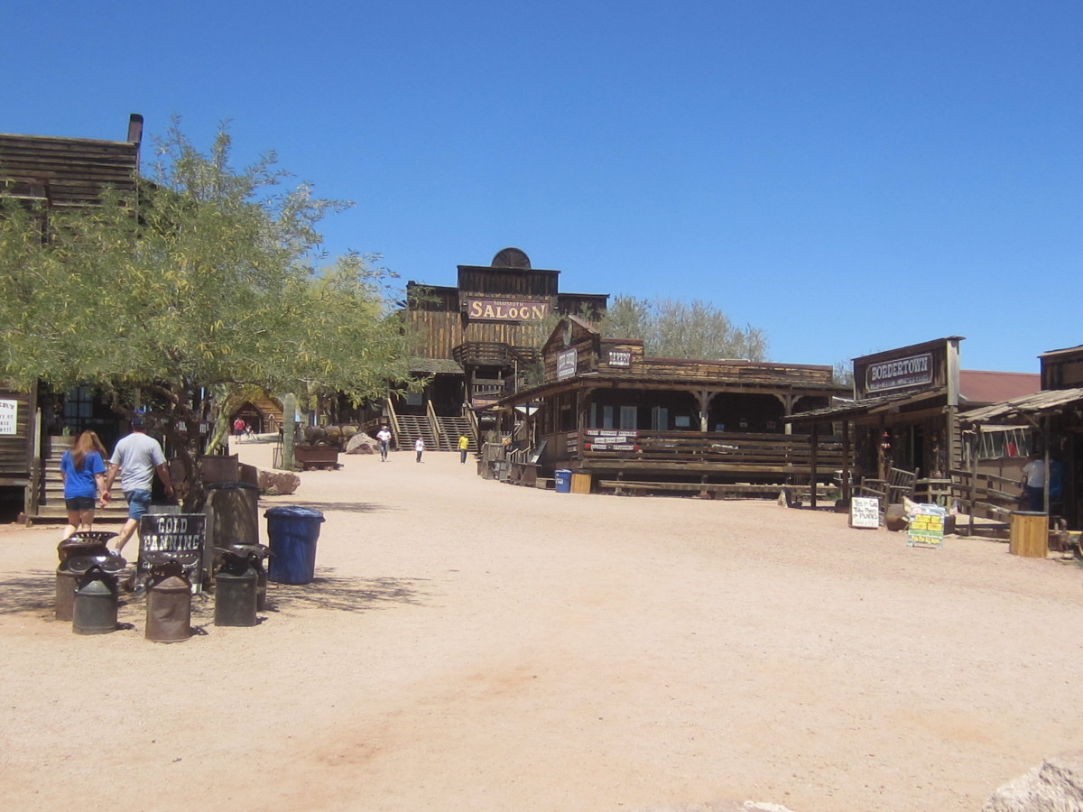 Goldfield Ghost Town and Mine Tour site in Superstition Mountains near Phoenix, AZ