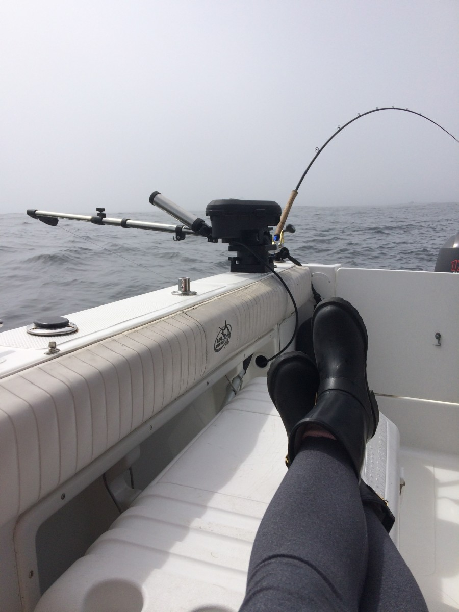 Relaxing on a charter based out of Ucluelet.
