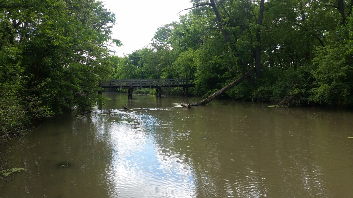 I&M Canal in Channahon along the McKinley Woods Preserve