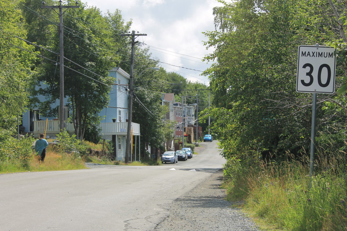 Section of Southside Road, just past the Blackhead Road crossing.