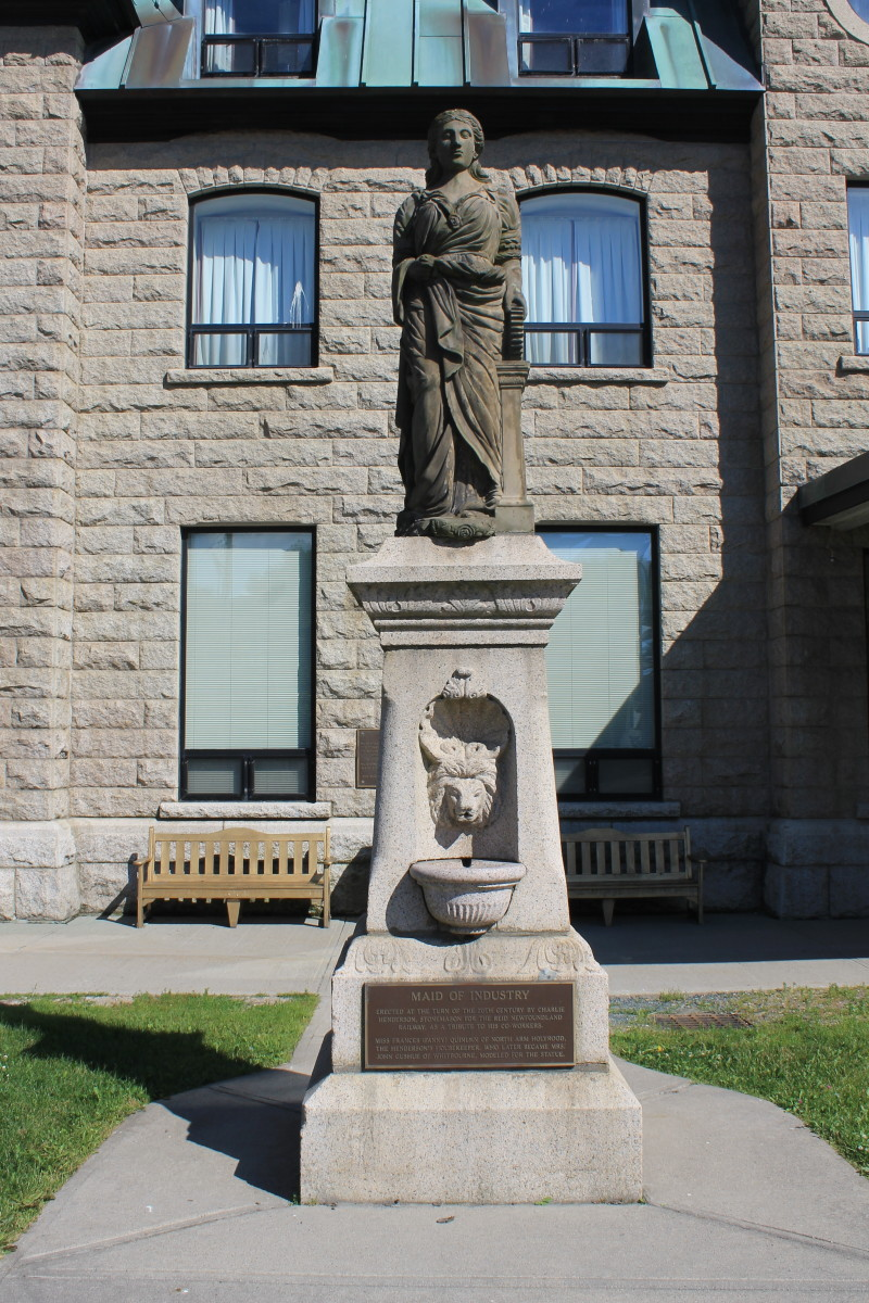 The Maid of Industry Monument.
