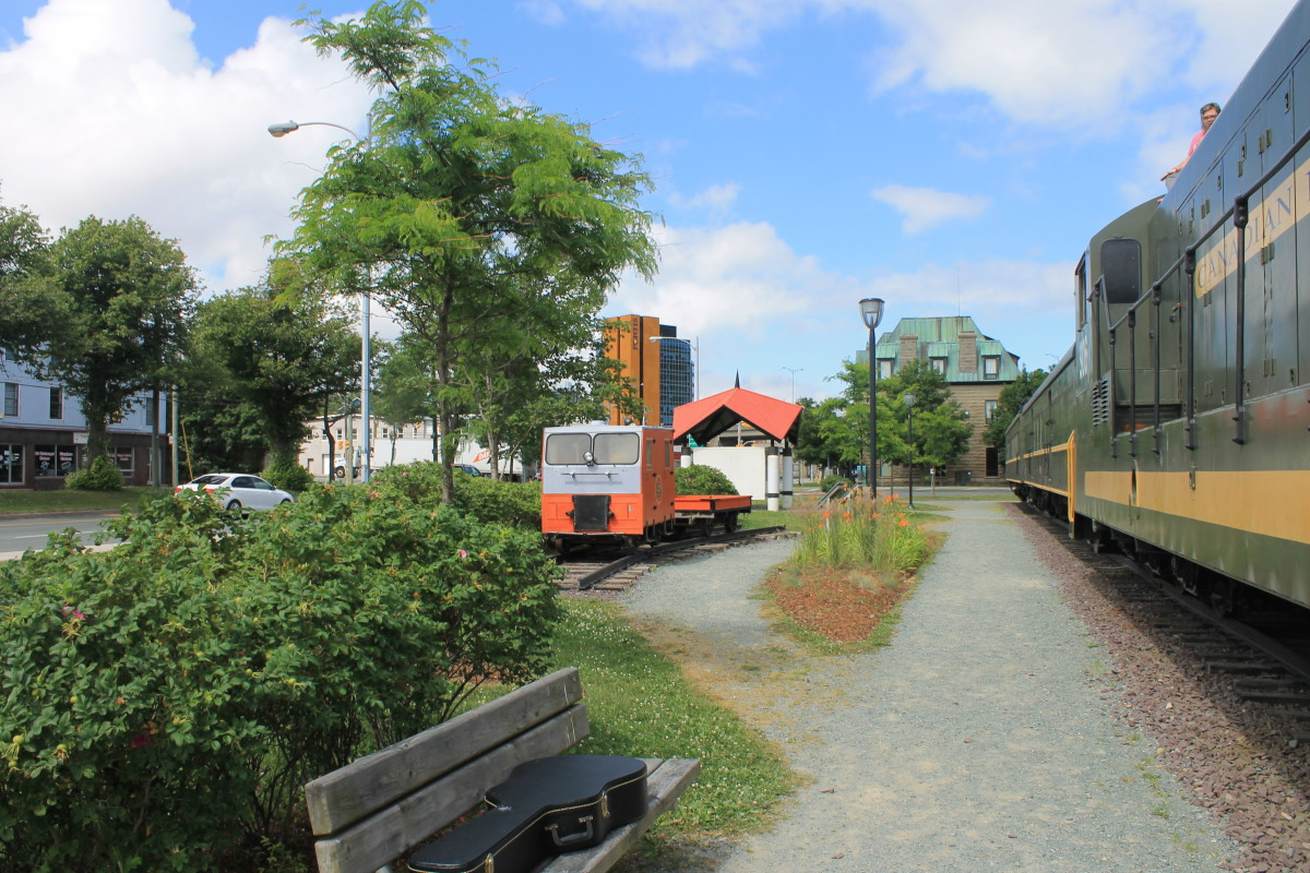 The railway yard on the west end of the Railway Coastal Museum.