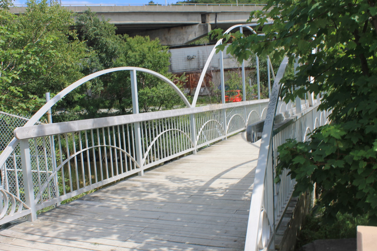 The Helen Fogwill Porter Footbridge.