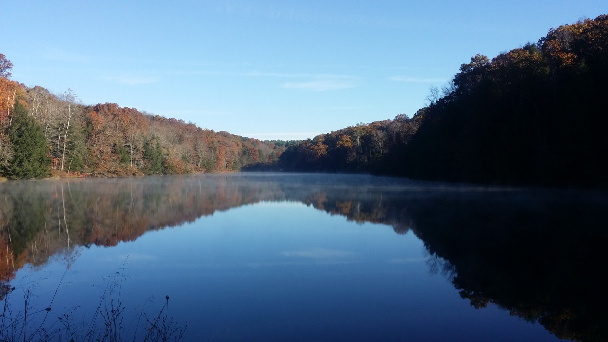Lake Logan is a prime fishing spot for blue gill, crappie, northern pike or bass.