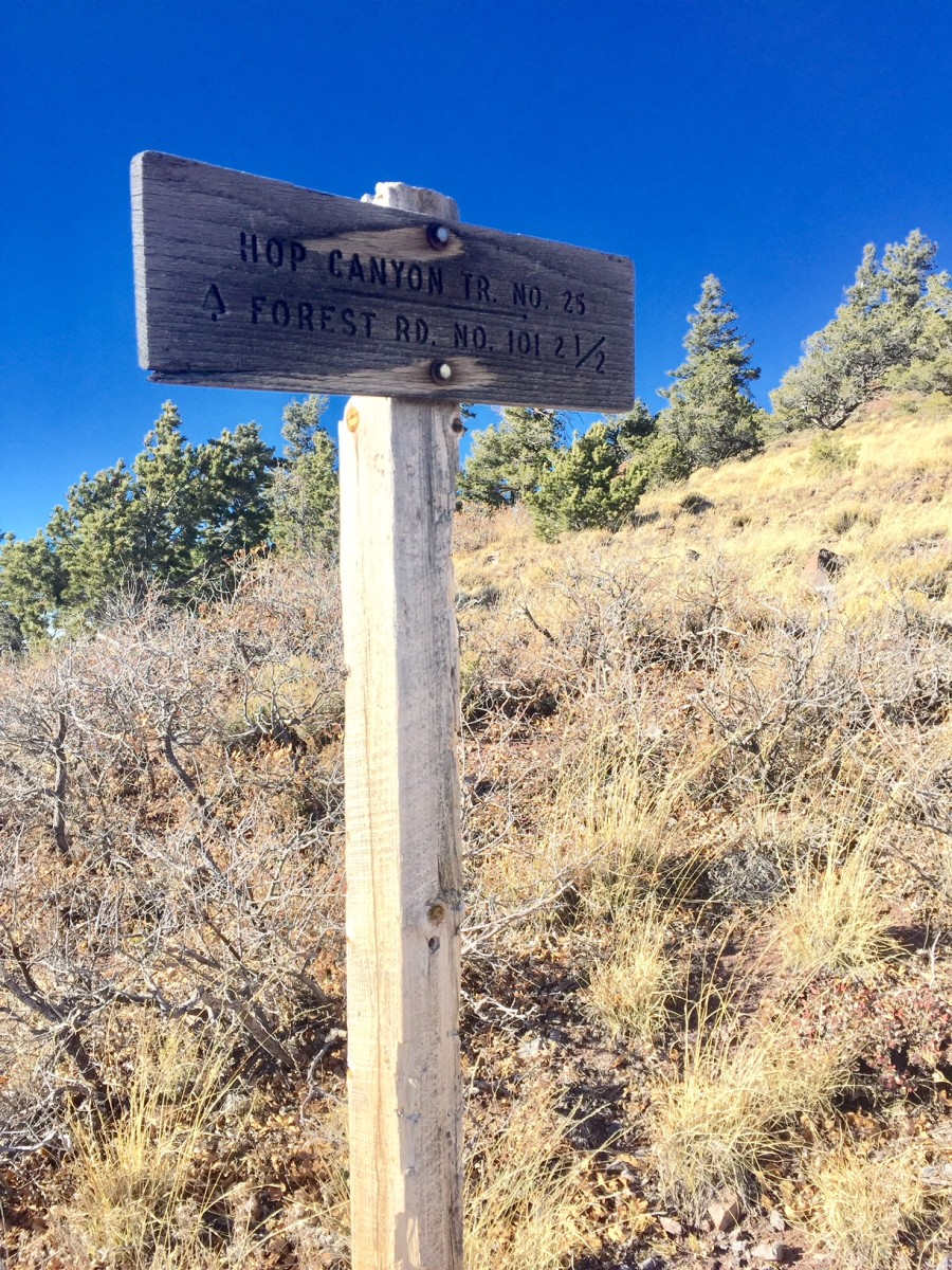 this sign marks the beginning of trail 25A