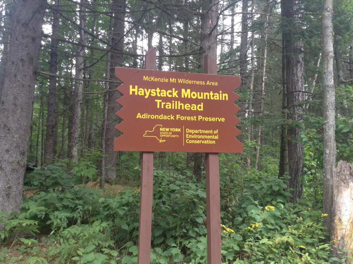 Sign for Haystack Trailhead