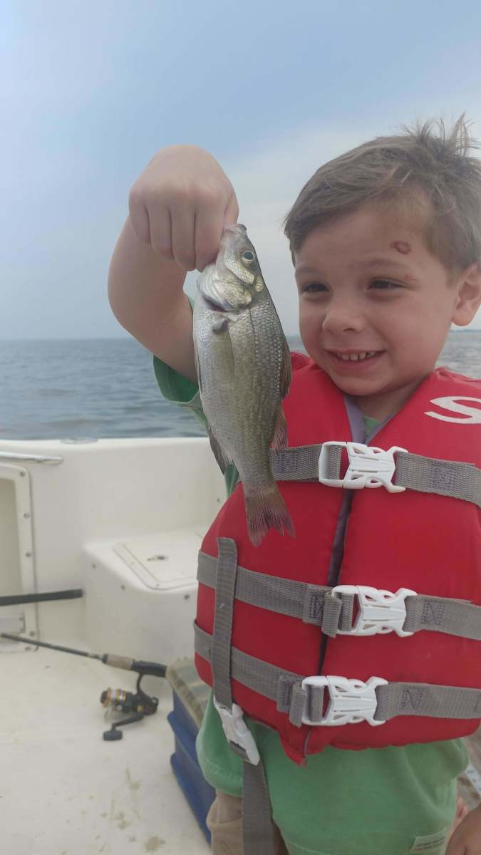 Proud Fisherman. Oliver age 4.