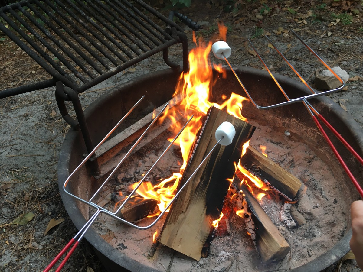 The weather was a bit cooler for our second camping trip. Having a fire each night was a great way to keep warm, not too mention an excellent excuse for making s'mores.