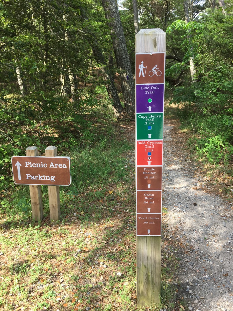 These signs are placed at major crossroads on the trails. They are pretty easy to understand, and are very visible on the trails.