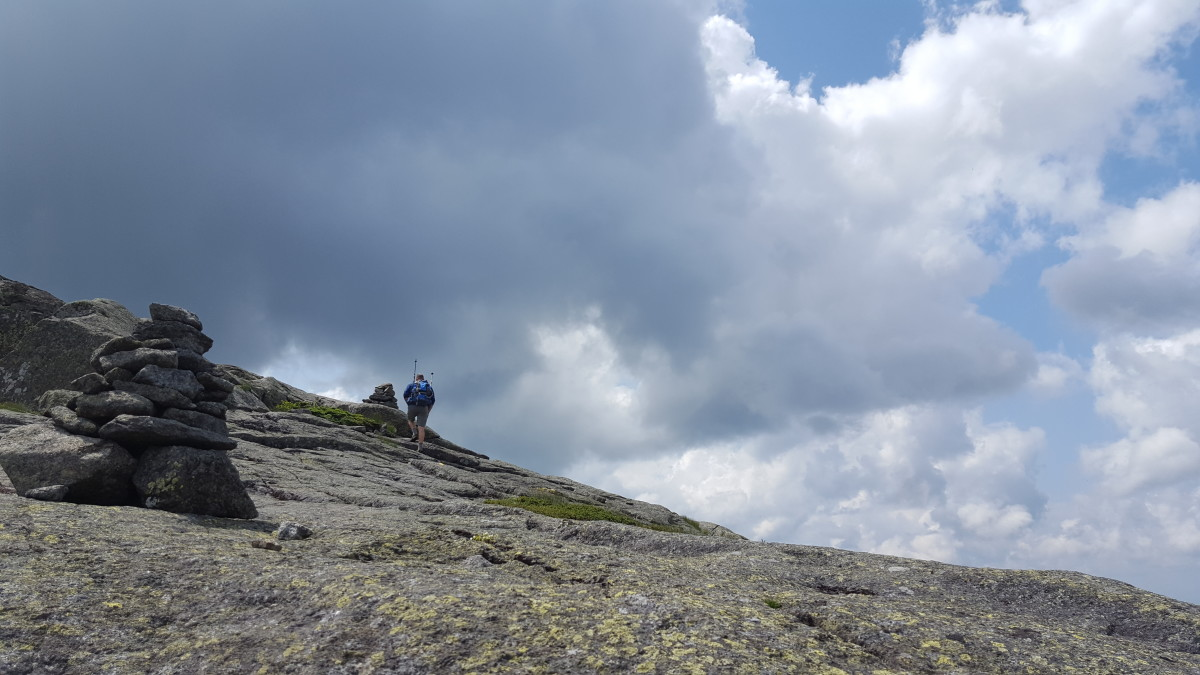 Climbing up Little Haystack
